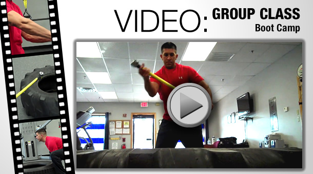 Video of Boot Camp group training class at the Fitness Factory
