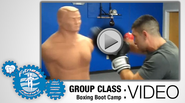 Video of Boxing Boot Camp group training class at the Fitness Factory