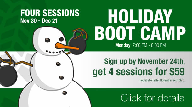 Fitness Factory Holiday Boot Camp group training class