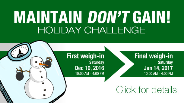 Fitness Factory 'Maintain Don't Gain' Challenge