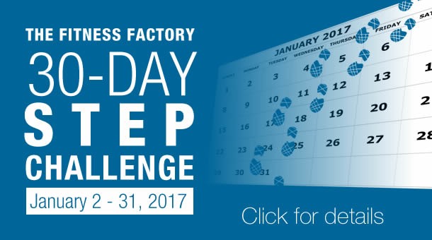 Fitness Factory 30 Day Step Challenge